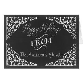 chalkboard Holiday greetings Card
