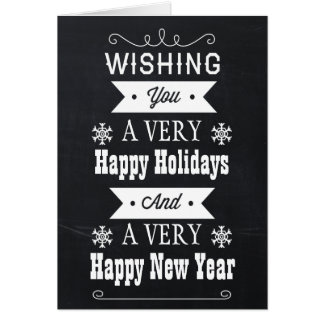 chalkboard Holiday greetings Cards