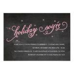 Chalkboard Holiday Soirée Christmas Party Invite
