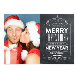 CHALKBOARD HOLIDAYS | HOLIDAY PHOTO CARD