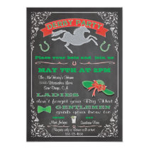 Chalkboard Horse Racing Derby Party Invitation