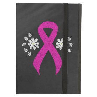 Chalkboard Hot Pink Ribbon iPad Air Cover