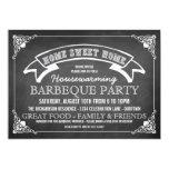 "Chalkboard Housewarming BBQ Party Invitation 5"" X 7"" Invitation Card"