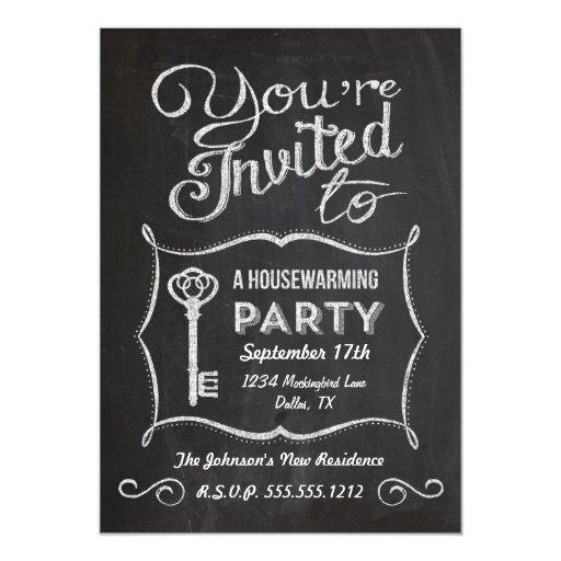 Chalkboard Housewarming Invitation Zazzle