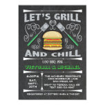 Chalkboard I Do barbecue BBQ engagement party Invitation
