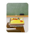 Chalkboard in classroom vinyl magnets