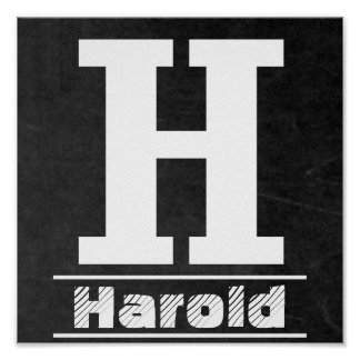 Chalkboard Initial  H | Personalize Poster
