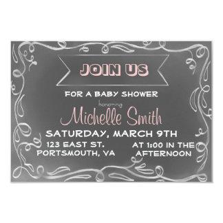 "Chalkboard Inspired Invitation 3.5"" X 5"" Invitation Card"