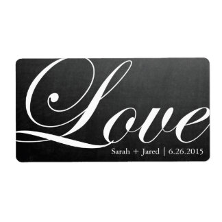 Chalkboard Inspired LOVE Wedding Label Shipping Label