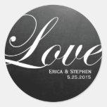 Chalkboard Inspired LOVE Wedding Sticker