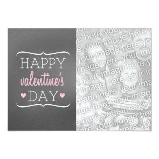 Chalkboard Inspired Photo Valentine's Card Custom Invitation