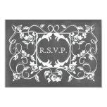 Chalkboard Inspired Roses Wedding RSVP Invitation