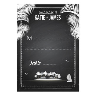 Chalkboard Island Destination Wedding Place Cards Large Business Card