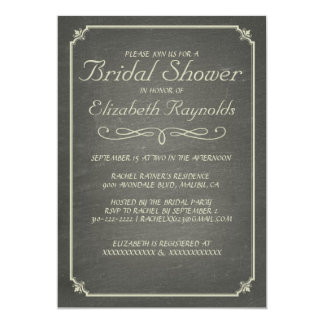 Chalkboard Ivory Bridal Shower Invitations Custom Invitations