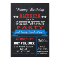 Chalkboard July 4th Holiday party Invitation