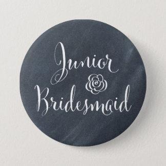 Chalkboard Junior Bridesmaid Pinback Button