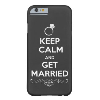 Chalkboard Keep Calm and Get Married Barely There iPhone 6 Case