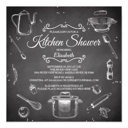 Chalkboard Kitchen Bridal Shower Invitation