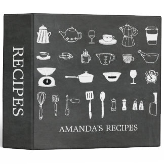 Chalkboard Kitchen Bridal Shower Recipe Binder