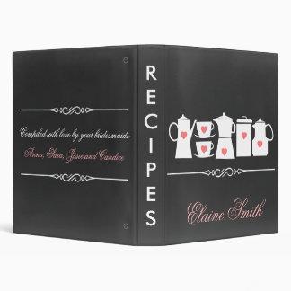 Chalkboard Kitchen Bridal shower Recipe Folder