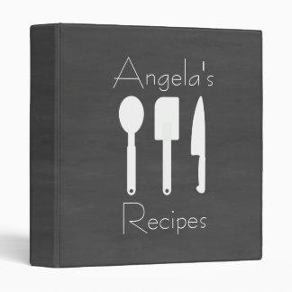 Chalkboard Kitchen Utensil DIY Cook book Vinyl Binders