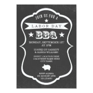 Chalkboard Labor Day Barbecue Invitation at Zazzle