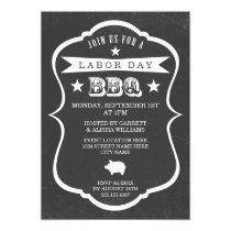 Chalkboard Labor Day Barbecue Invitation