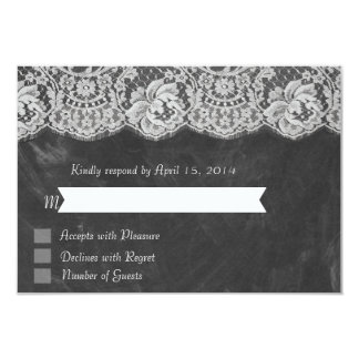 Chalkboard lace RSVP Cards