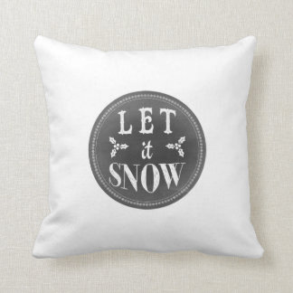 Chalkboard Let it Snow and Baby it's Cold Outside Throw Pillow