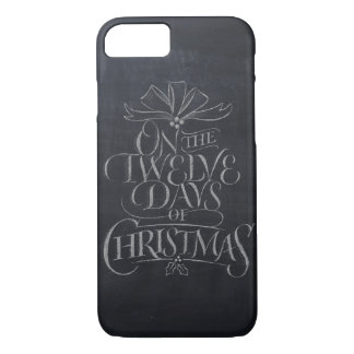 Chalkboard Lettering '12 Days of Christmas' Chalk iPhone 8/7 Case