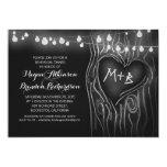 "chalkboard lights tree romantic rehearsal dinner 5"" x 7"" invitation card"