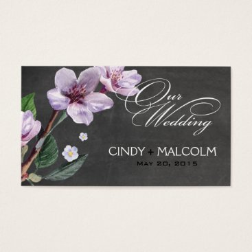 Professional Business Chalkboard Lilac Watercolor Wedding Website Business Card