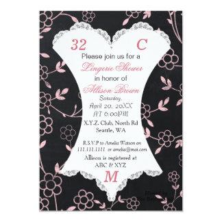 chalkboard lingerie shower invitation
