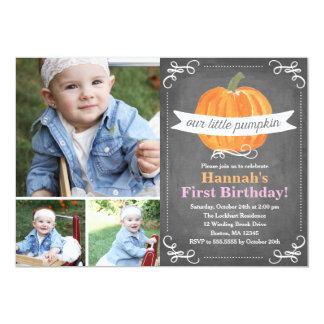 Chalkboard Little Pumpkin Birthday Card