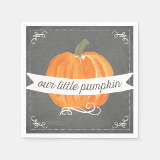 Chalkboard Little Pumpkin Birthday Napkin