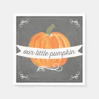 Chalkboard Little Pumpkin Birthday Napkin
