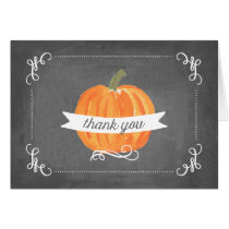 Chalkboard Little Pumpkin Thank You Card