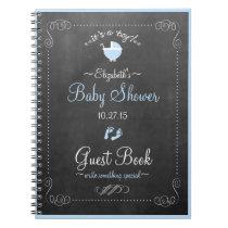 Chalkboard Look- Baby Shower Guest Book- Notebook