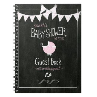 Chalkboard Look-Baby Shower Guestbook- Notebook