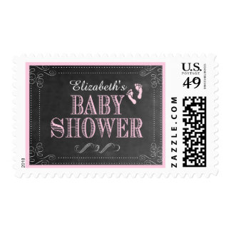 Chalkboard Look Baby Shower- Postage