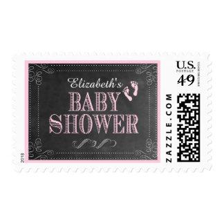 Chalkboard Look Baby Shower- Postage Stamp