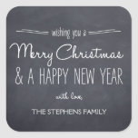 Chalkboard Look Christmas/Holiday Stickers Square Stickers