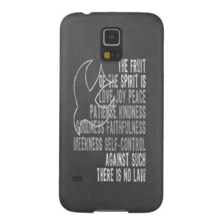 Chalkboard Look Dove and Fruit of the Spirit Case For Galaxy S5