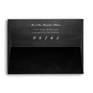 Chalkboard Look Envelope with White Liner