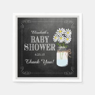 Chalkboard Look Mason Jar-Baby Shower Disposable Napkin