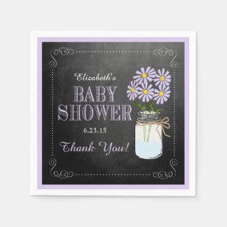 Chalkboard Look Mason Jar-Baby Shower Paper Napkins