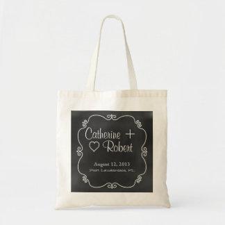 Chalkboard Look Wedding Guest Tote Bag Favor