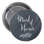 Chalkboard Maid of Honor Button
