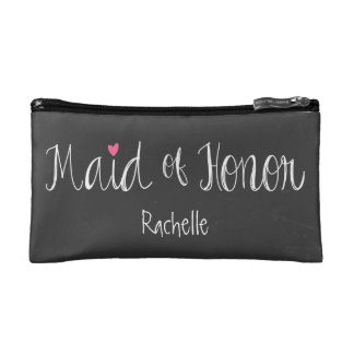 Chalkboard Maid of Honor Cosmetic Bag