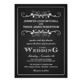 "Chalkboard Marquee Wedding Invitations 5"" X 7"" Invitation Card"